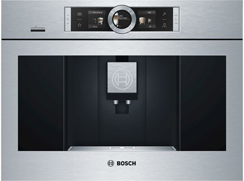 Bosch silver and black coffee machine for a home